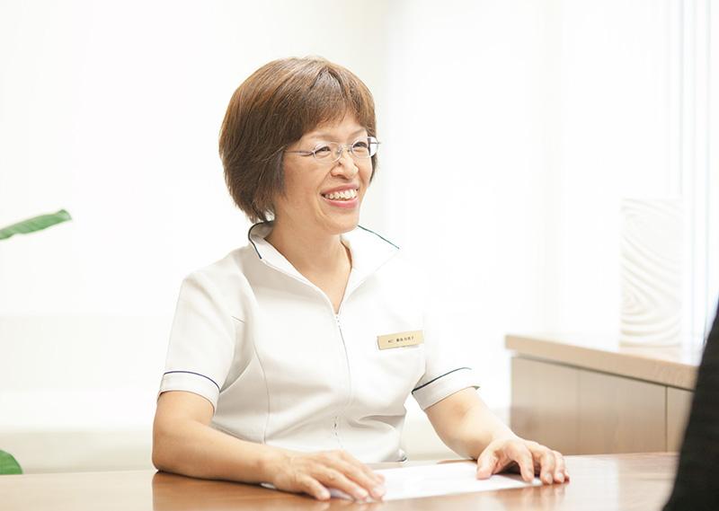 看護師長 藤島 由美子